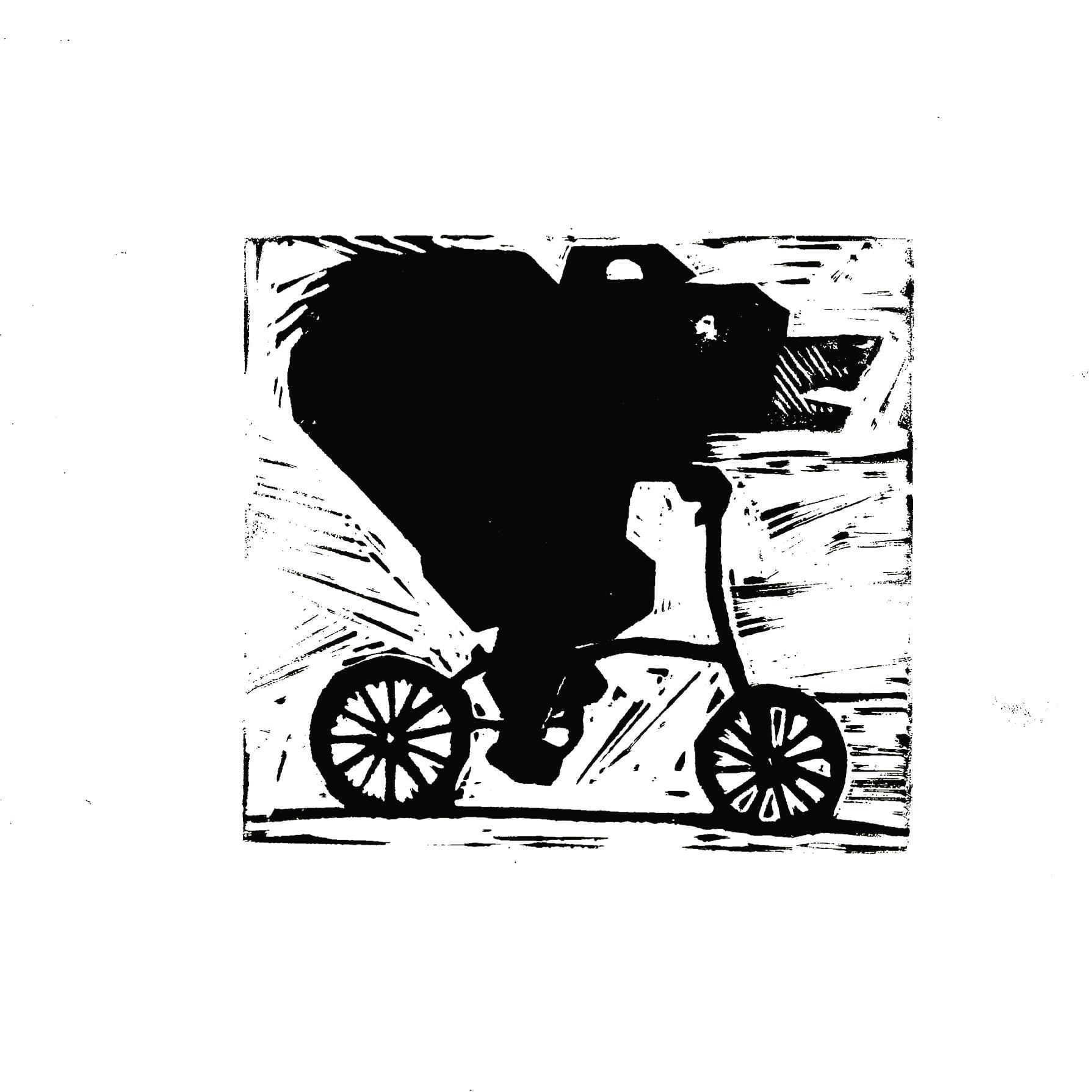 Lino print on White paper