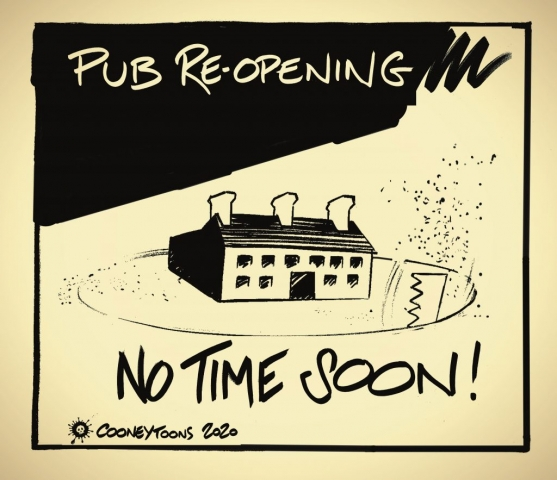Only Pubs that serve food with social distancing are allowed remain open